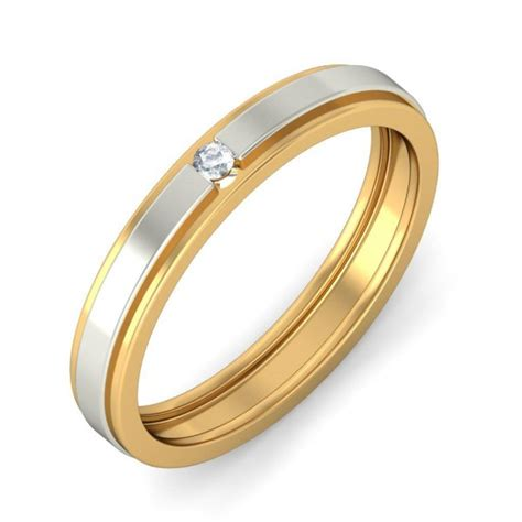 affordable diamond wedding band in two tone gold jeenjewels