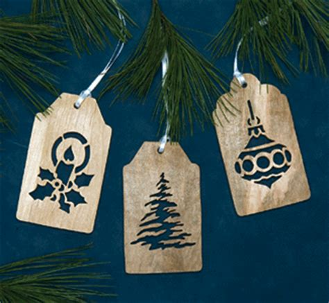 indoor christmas gift tag scroll saw ornament patterns