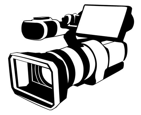 video camera objects printable coloring pages