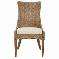 wicker dining room chairs Home Decorators Collection Genie Grey Kubu Wicker Dining ...