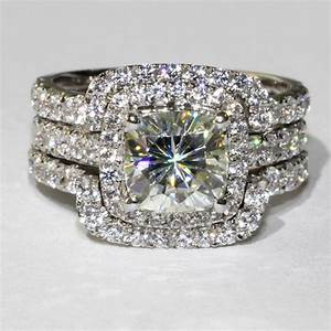 aliexpresscom buy 14k white gold lab grown moissanite With big gold wedding rings