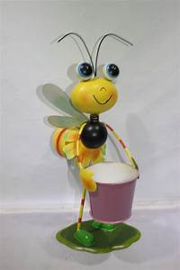 Garden Decoration Little Metal Bee Honey Bee