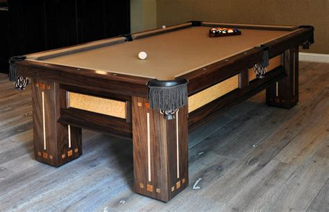 building  custom pool table finewoodworking