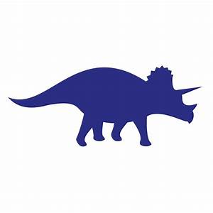 Wall Decal: Awesome Dinosaur Silhouette Wall Decals Blue