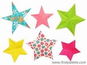 Folding Paper Stars Craft Kids' Crafts FirstPalette com