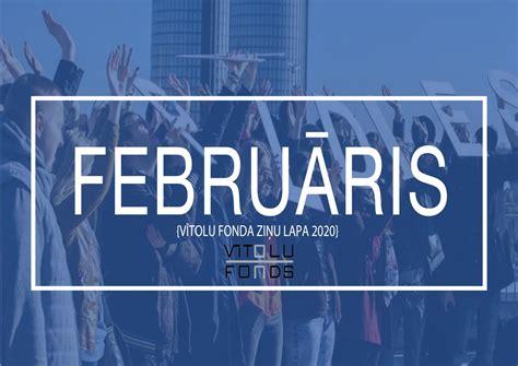 Vītolu fonda ziņas februārī 2020 by Vītolu fonds - Issuu