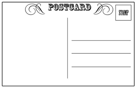 Read Write Think Postcard Template by Schroeder Docents