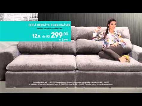sofa retratil e reclinavel ambientare casa promoção sofá retrátil e reclinável youtube