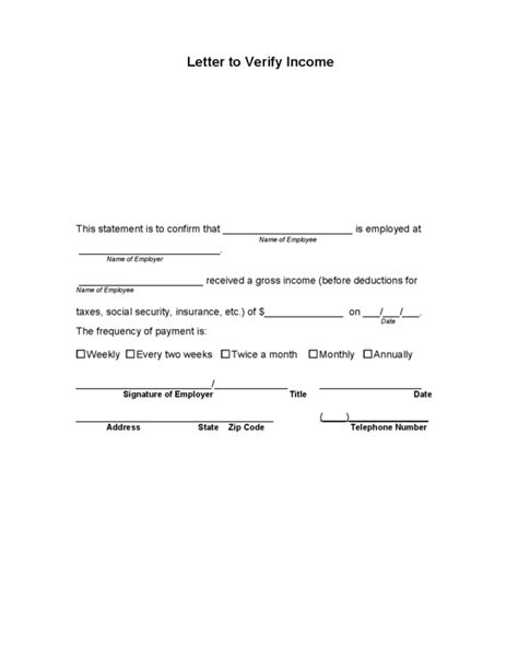 income verification letter income verification letter legalforms proof of income for
