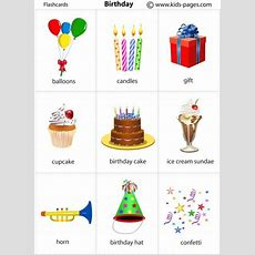 Kids Pages  Birthday  Vocabulary  Pinterest  Birthdays, Kids Pages And Flashcard
