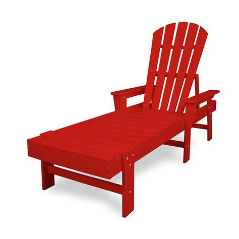 chaise adirondack plastique recyclé costco polywood recycled plastic adirondack style chaise lounge