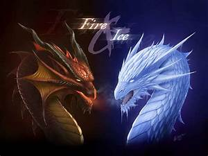 fire and ice dragon - Dragons Wallpaper