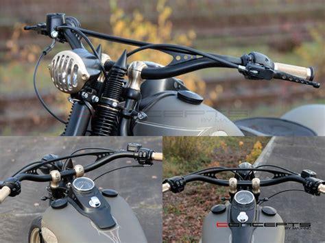 Brass Motorcycle Handlebar Risers 1