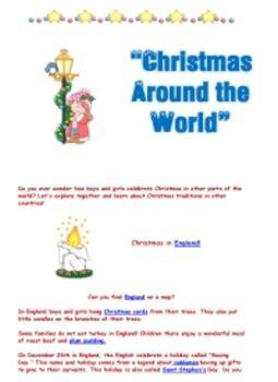 christmas   world printable packet