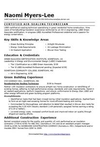 Filled Out Resume Exles by Air Sealing Technician Cv R 233 Sum 233 Exle How To Write A Cv