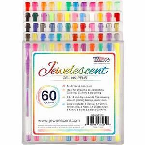 US Art Supply Jewelescent 60 Color Gel Pen Set Classic
