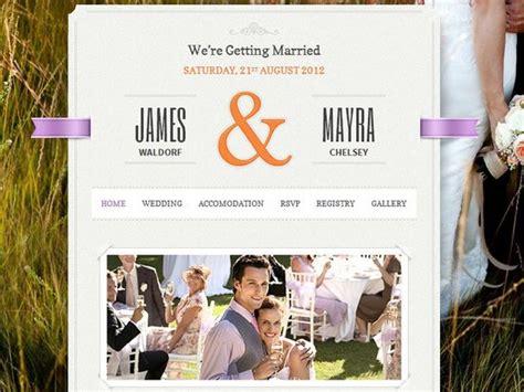 Wedding Website Templates 20 Best Wedding Website Templates Css Html