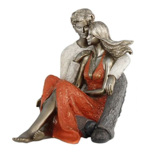 summer of love seated couple figurine terracotta