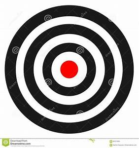 Blank Template For Sport Target Vector Shooting