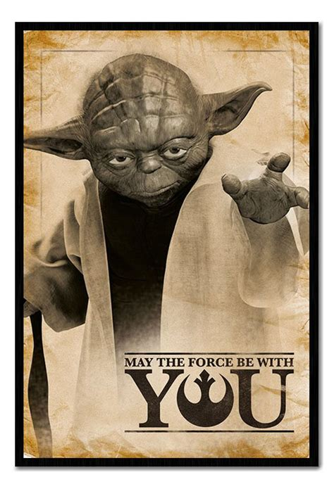 Framed Star Wars Yoda May The Force Be With You Poster New ...