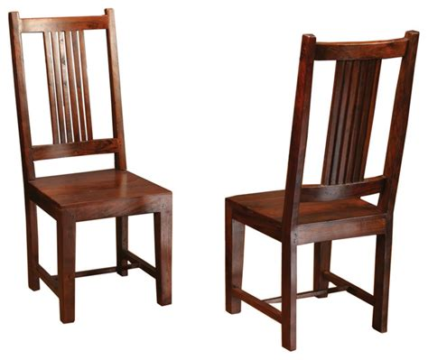 sheesham solid wood dining chair with splat back