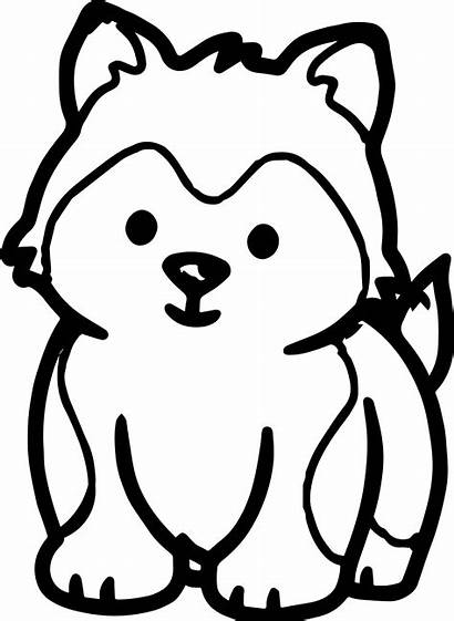 Husky Coloring Pages Puppy Printable Dog Puppies