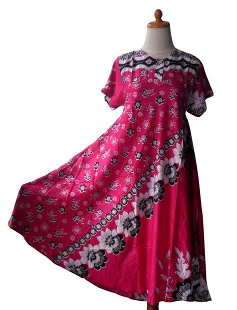 jual daster batik kipas merah dress baju tidur longdress