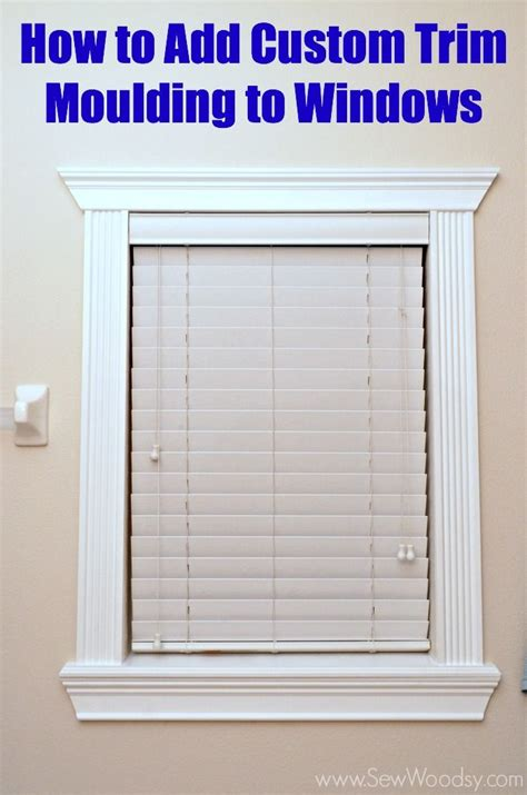 Window Crown Molding by How To Add Custom Trim Moulding To Windows Step By Step