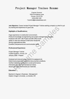 Project Management Trainee Resume by Sle Tax Specialist Resume Resame Resume And Ps