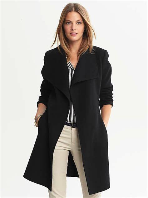 Banana Republic Draped Wool Coat - canadian fashion and style real runway