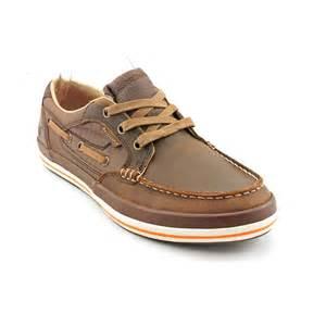 skechers diamondback revis mens brown moc leather boat shoes size uk 10 ebay