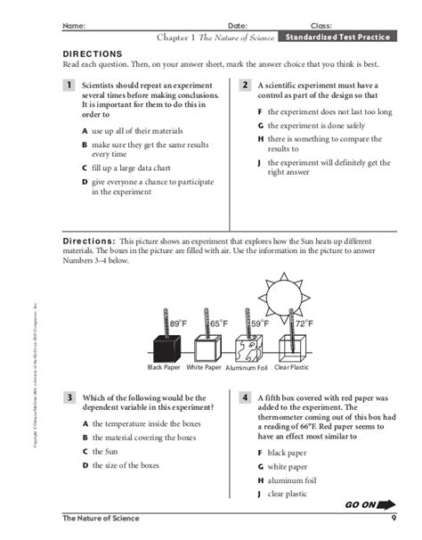 mcgraw hill science worksheet of nature mcgraw best free