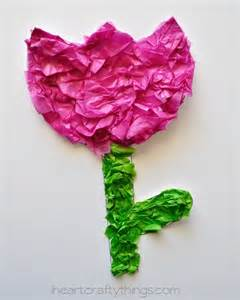 Crafts with Tissue Paper Squares