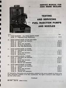 Service Manual For John Deere Db Jdb Dc Roosa Master Fuel