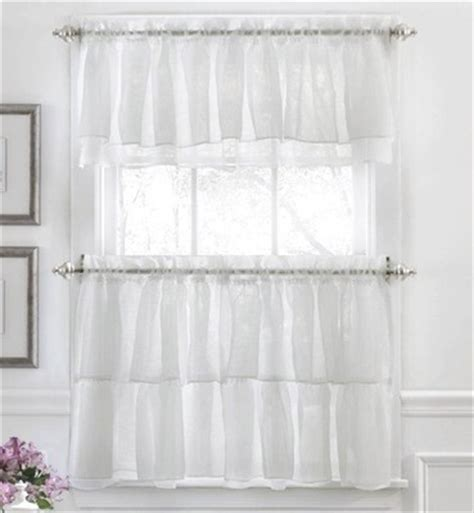 gypsy ruffled kitchen curtain white linens4less com