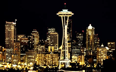 seattle city light skyline seattle wallpaper 1680x1050 wallpoper