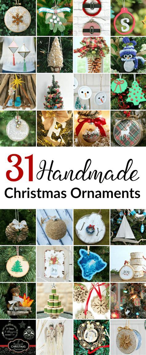 handmade christmas ornaments domestically speaking