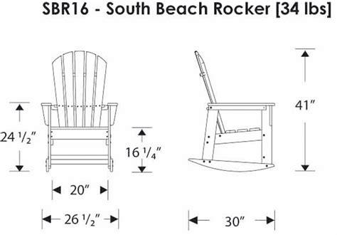 polywood 174 sbr16 south rocker polywood furniture