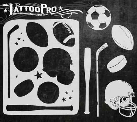Tattoo Pro Stencil  Sports (atps148)  Glitter Tattoo