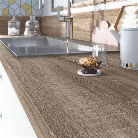 plan de travail cuisine stratifié leroy merlin plan de travail stratifié effet chêne havane mat l 315 x p