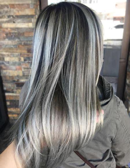 ash grey hair color ideas  spring season