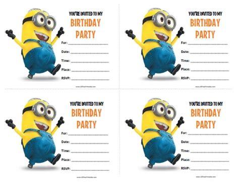 minions birthday invitations  printable