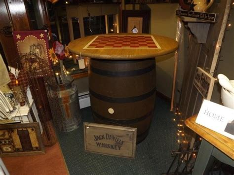 jim beam whiskey barrel table table ideas