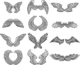 Realistic Angel Wings Drawing