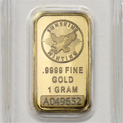 Buy 1 Gram Sunshine Gold Bars (Brand New) l JM Bullion™