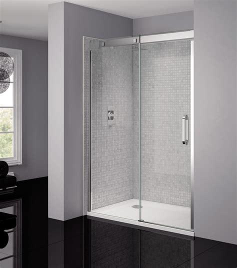 sliding frameless shower doors april prestige frameless 1200mm clear silver sliding
