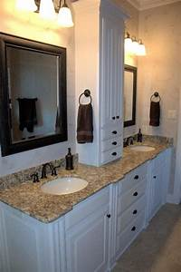 master bath vanity master bath and storage on pinterest With bathroom vanities with storage towers