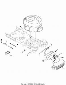 Troy Bilt 13an77kg066 Pony  2009  Parts Diagram For Engine