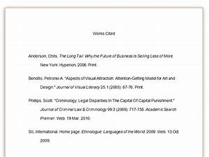 Apa Style Letter Example Mla Bibliography Example And Citations