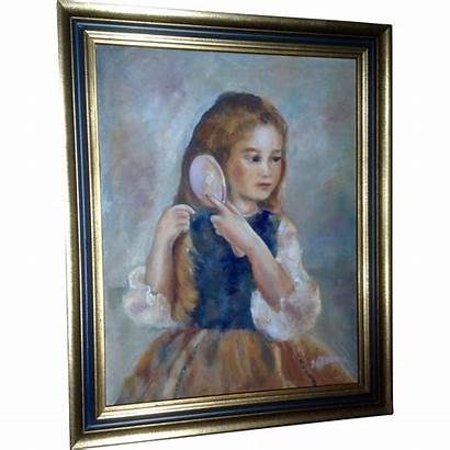 Painting Oil Young Portrait Brushing